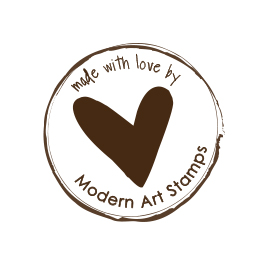 Custom Rubber Stamp - Personal - Made with Love, Heart - C108
