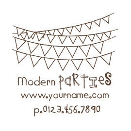 Custom Rubber Stamp - Personal - Party Garland - C116
