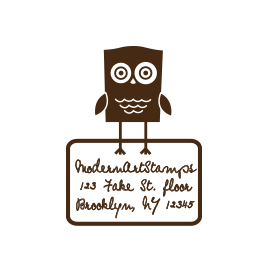 Custom Rubber Stamp - Address Stamp - Owl - C131