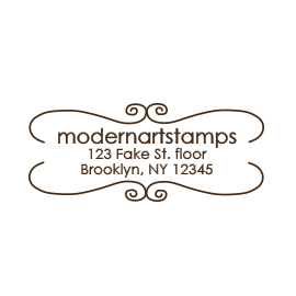 Custom Rubber Stamp - Address Stamp - Bookplate - C144