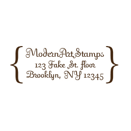 Custom Rubber Stamp - Address Stamp - Brackets - C146