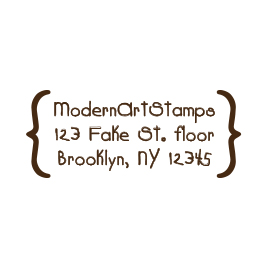Custom Rubber Stamp - Address Stamp - Brackets - C147