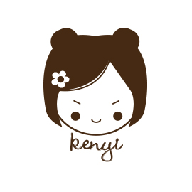Custom Rubber Stamp - Personal Kenyi Girl, Doll - C166