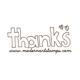 Custom Rubber Stamp - Thank you - C201