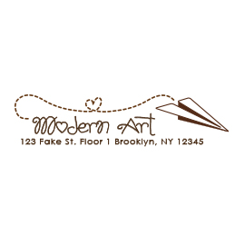 Custom Rubber Stamp - Address Stamp - Airplane - C204