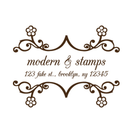 Custom Rubber Stamp - Address Stamp - Bookplate - C206