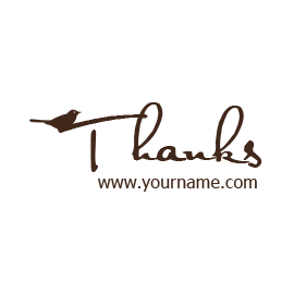 Custom Rubber Stamp - Thank you - C22