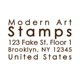Custom Rubber Stamp - Address Stamp - Just Text - C220