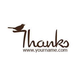 Custom Rubber Stamp - Thank you - C23