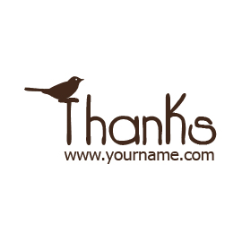 Custom Rubber Stamp - Thank you - C25