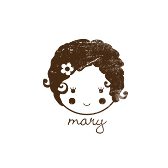 Custom Rubber Stamp - Personal - Mary Girl, Doll - C311