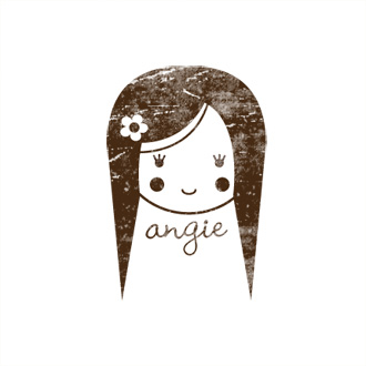 Custom Rubber Stamp - Personal - Andie Girl, Doll - C314