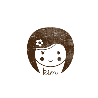Custom Rubber Stamp - Personal - Kim Girl, Doll - C319