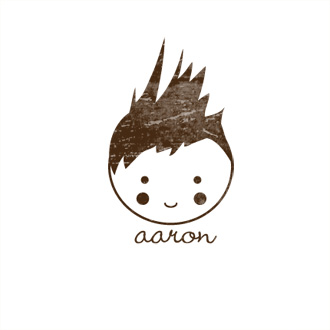 Custom Rubber Stamp - Personal - Aaron Boy, Doll - C326