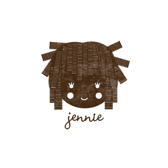 Custom Rubber Stamp - Personal - Jennie Girl, Doll - C328