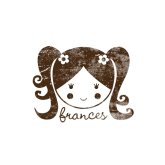 Custom Rubber Stamp - Personal - Frances Girl, Doll - C329