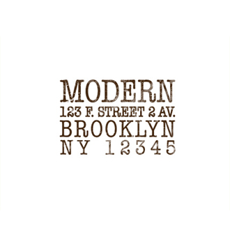 Custom Rubber Stamp - Address Stamp - Text Block - C359