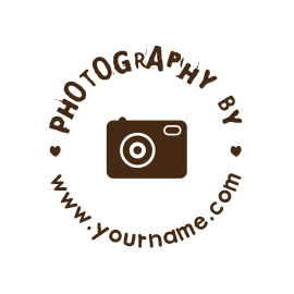 Custom Rubber Stamp - Personal - Photography by, Camera - C43 - Click Image to Close