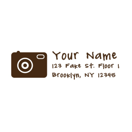 Custom Rubber Stamp - Address Stamp - Camera, Photo - C44