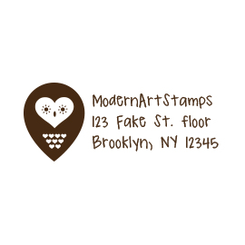 Custom Rubber Stamp - Address Stamp - Owl - C51