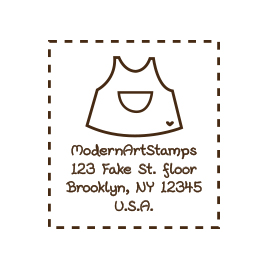 Custom Rubber Stamp - Address Stamp - Baby Dress - C53