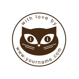 Custom Rubber Stamp - Personal - Kitty, Cat - C8