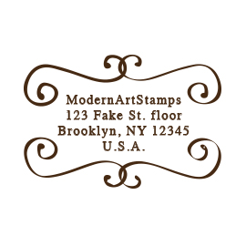 Custom Rubber Stamp - Address Stamp - Bookplate - C86