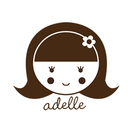 Custom Rubber Stamp - Personal - Adelle Girl, Doll - C89