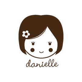 Custom Rubber Stamp - Personal - Danielle Girl, Doll - C90