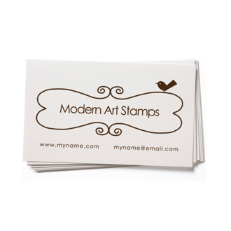 Custom Rubber Stamp - Business Card - Frame with Birds - BC13