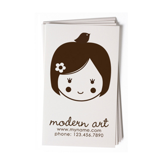 Custom Rubber Stamp - Business Card - Danielle Girl, Doll - BC21