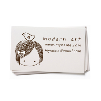 Custom rubber stamp business card girl with bird bc27 3000 custom rubber stamp business card girl with bird bc27 reheart Choice Image