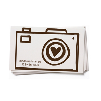 Custom Rubber Stamp - Business Card - Camera, Photography - BC54