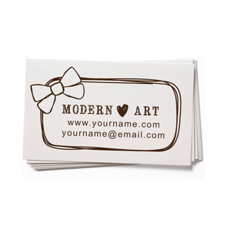 Custom Rubber Stamp - Business Card - Bow, Hair Bows - BC63