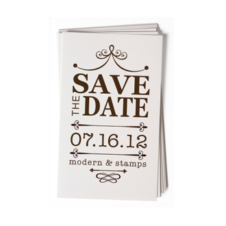 Custom Rubber Stamp - Wedding Stamp - Save the Date - BC67