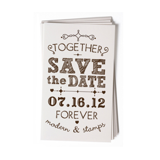 Custom Rubber Stamp - Wedding Stamp - Save the Date - BC68
