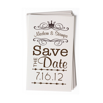 Custom Rubber Stamp - Wedding Stamp - Save the Date - BC69