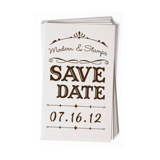 Custom Rubber Stamp - Wedding Stamp - Save the Date - BC70