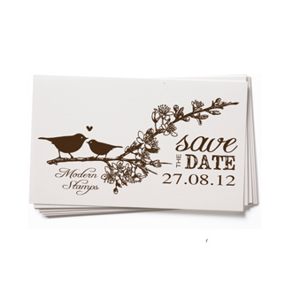 Custom Rubber Stamp - Wedding Stamp - Save the Date - BC74