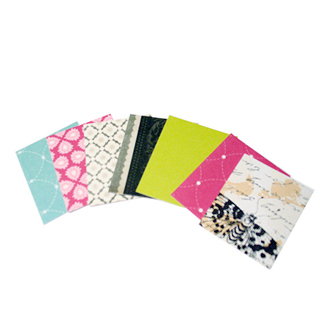 "50 Decorated Cardstock Tags - 2"" X 1.5"""