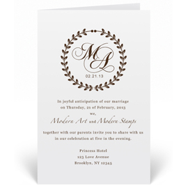 Custom Wedding Invitation Stamp Elegant Monogram W2 75 00