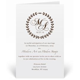 Custom Wedding Invitation Stamp Elegant Monogram W2
