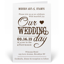 Custom Wedding Invitation Stamp - Beautiful Script - W4